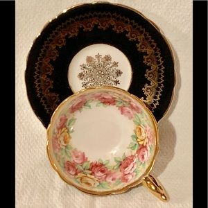Stunning Royal Stafford Teacup and Saucer Roses